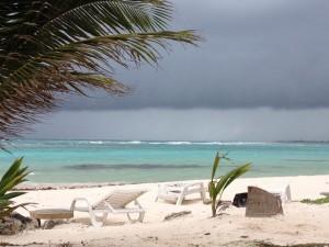Mahahual beach and ocean Blue